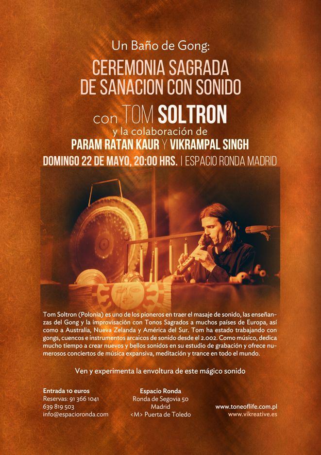 Baño de gong con Tom Soltron -Vikrampal-Param Ratan